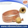 Copper Capillary Pipe with Brass Nut