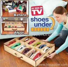 Shose under buggy bag Closet Organizer Under Bed Storage