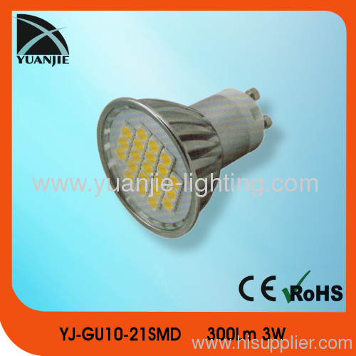 3w gu10 aluminium housing led lamp