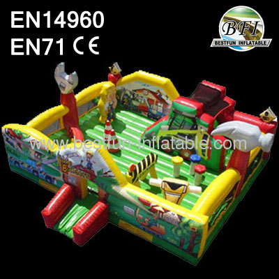 Inflatable Little Builders Playgroud