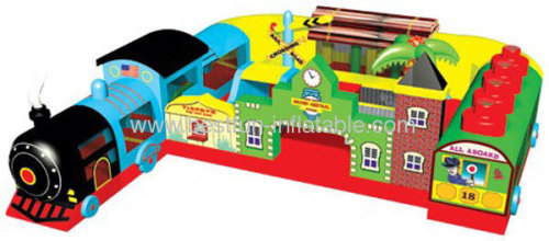 Fun Express Train Station Inflatable Toddler Playground
