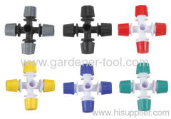 Plastic Cross-shaped Misting Sprinkler For Micro Irrigation