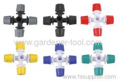 Plastique en forme de croix Brumisation Sprinkler Pour Micro Irrigation