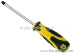 Bi-color Cr-V Steel Slot Magnetic Screwdriver