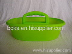 plastic shower caddy basket with handle