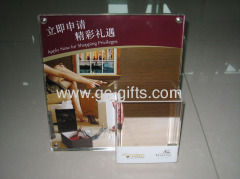 Acrylic leaflets advertising holder