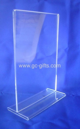 T-stand clear acrylic poster display