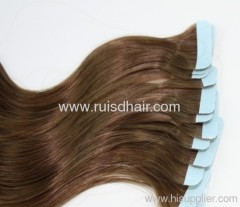 remy human hair pre-taped hair extension