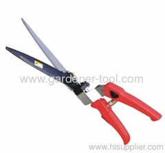 garden grass handle shear with plastic hand