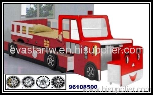 Wood Kids Car Bunk Bed With Desk Set 96108500 Manufacturer From Taiwan  Evastar Art Designs Inc