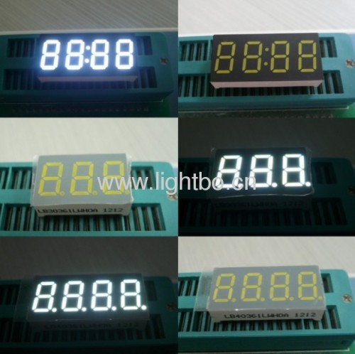 White 9.2mm (0.36 inch) 7 segment led display