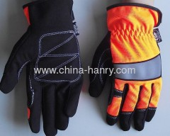 Fluorescent protective gloves & safety gloves 008