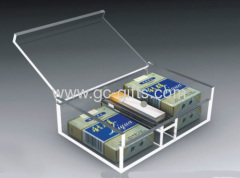 Clear plastic cigar storage display boxes