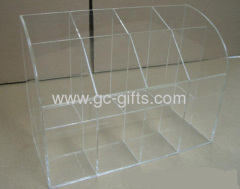 Transparent plastic literature organizer display