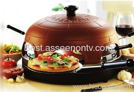 PIZZA DOME Electric Pizza Oven bake pizza pan as seen on tv