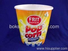 round plastic popcorn container