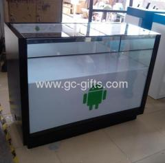 Custom glass wooden display cases