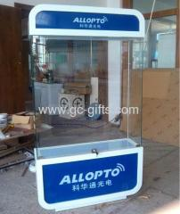 Floor tall glass + MDF display showcases