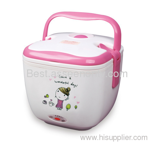 electric heating food container heating lunch case as seen