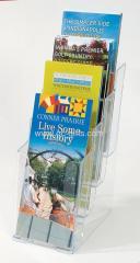 1/3 A4 Plastic leaflet holder 4 tiers