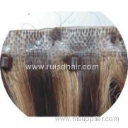 100% hand tied Skin weft / PU weft (human hair)