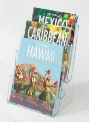 Acrylic pamphlets holder A4 x 3 tiers