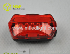 5 red LED light bike