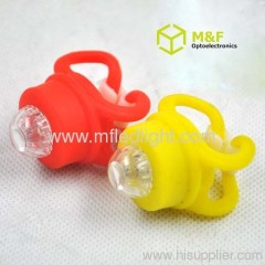 Silicone LED bike light
