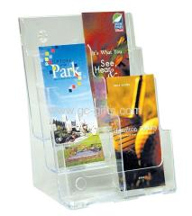 Plastic literature holder A4 with divider