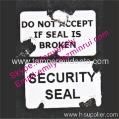 Do Not Accept If Seal Is Broken Labels
