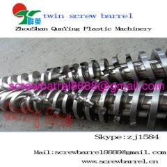 twin bimetallic screw barrel