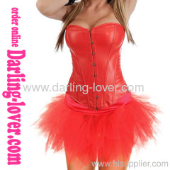 Leather Sexy Classic Fashio Corset with Dress