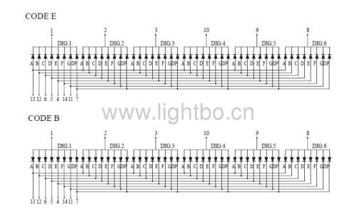 common anode super bright Amber0.36 inch 6 digit 7 segment led numeric display