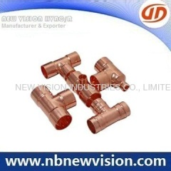 EN1254 End Feed Copper Fittings - Reducing & Equal Tee