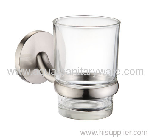 Round toothbrush holder with Clear Glass