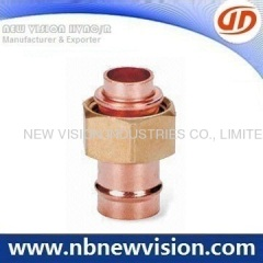 Copper Fitting with Brass Nut