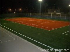 standard ITF approved tennis court artificial grass