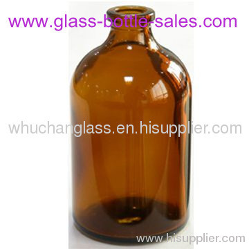 amber moulded glass vials