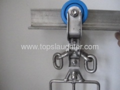 Poultry slaughtering machine tainless steel trolley