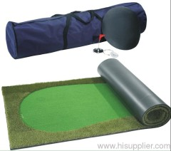 regalo di golf e mini putting green e tappetino da interno
