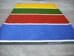 multicolor artificial grass for running track