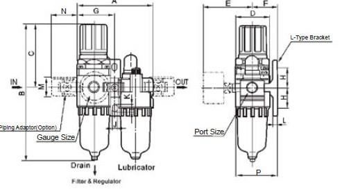 AC4010 SMC AIR FRL source treatment units pneumatic tools air tools air tube pu tube fitting