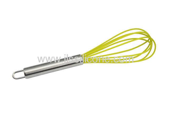 Mini silicone egg whisk for kitchenware DIY tool