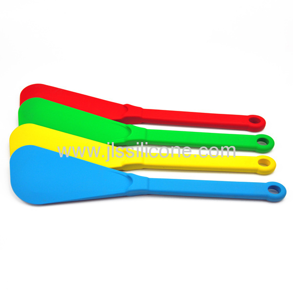Silicone houseware product with silicone spoons and soup ladle