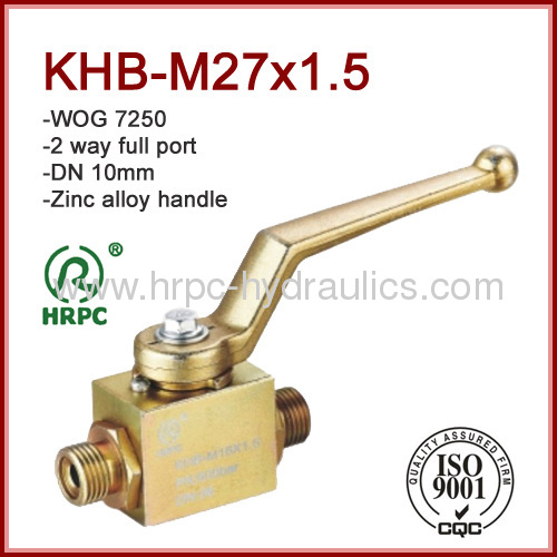 male thread hydraulic 2 way full port ball valve ningbo 7250psi