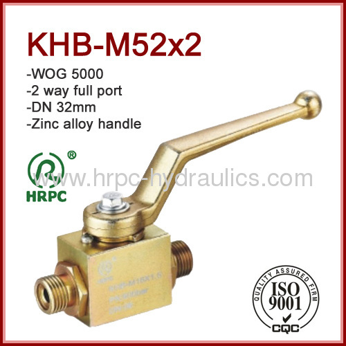 male x male thread full port dn32 hydraulic oil ball valve high pressure 5000psi
