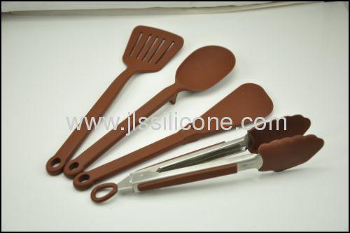 Silicone kitchen utensils in kitchenware