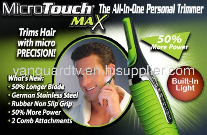 Micro Touch Max Personal Groomer / Trimming Away Unsightly Facial Hair has Never Been Easier