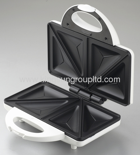 2 slice fixed sandwich maker with sandwich and waffle plate
