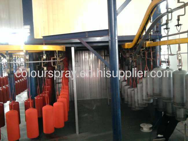 powder coating line for LPG tank